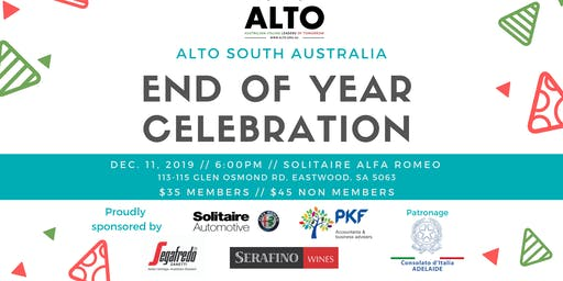 ALTO SOUTH AUSTRALIA: End of Year Celebration