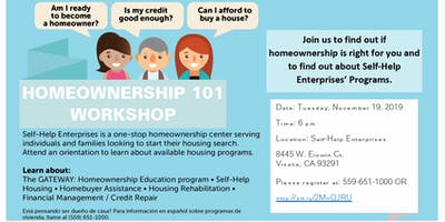 Homeownership 101 Workshop