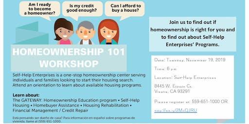 Homeownership 101 Workshop