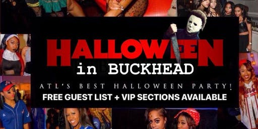 HALLOWEEN in BUCKHEAD || ATL's Best Halloween Party! (FREE Guest List is open + VIP seating available)