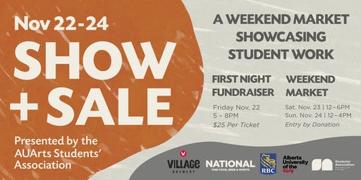 First Night Fundraiser: AUArts Students' Association Fall 2019 Show + Sale