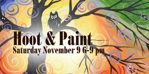 Hoot & Paint While You Sip Party!