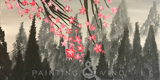 """""""Winter Cherry Blossoms"""" Painting & Vino Event"""