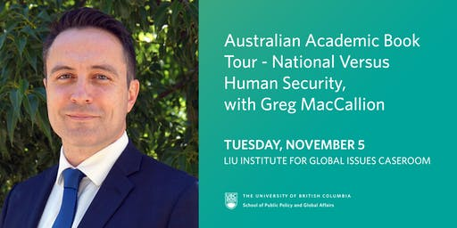 Australian Academic Book Tour - National Versus Human Security