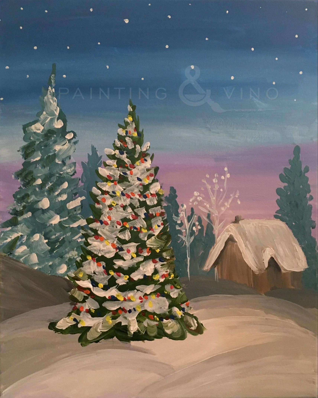 Oh, Christmas Tree Painting & Vino Event