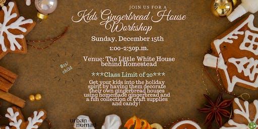 Kids Gingerbread House Workshop