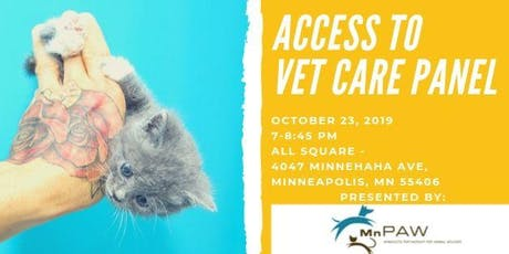 MnPAW Access to Vet Care Panel tickets