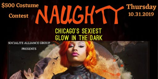 """NAUGHTY"" GLOW IN THE DARK HALLOWEEN COSTUME PARTY"