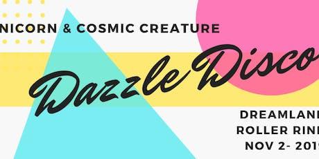 Unicorn & Cosmic Creature Dazzle Disco- Dress Up Skate Party!  (kids 7+) tickets