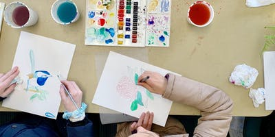 Kids Watercolour Workshop at Handmade Canberra