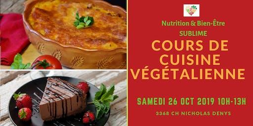 Cours de cuisine végétalienne 26 oct 2019
