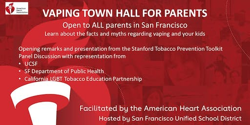 Vaping Epidemic Town Hall for Parents