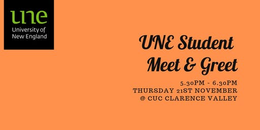 UNE Student Meet & Greet - CUC Clarence Valley