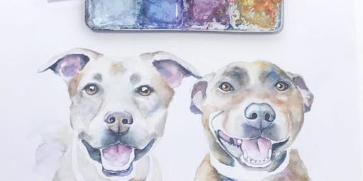 Adult and Teen Pet Portrait Painting Class