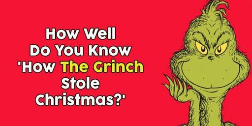 How the Grinch Stole Christmas Trivia Night