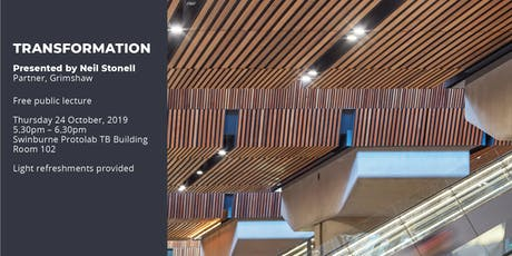 Lecture 6 - Swinburne Design Lecture Series 2019  24th Oct 5.30pm - 6.30pm tickets