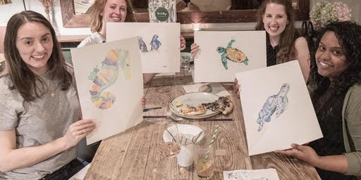 Adult and Teen Watercolour Class at Olive Tree Market.