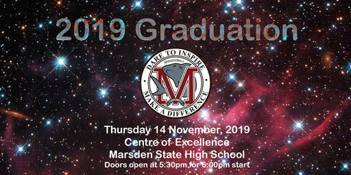 Marsden State High School Year 12 Graduation 2019 Staff Invitation