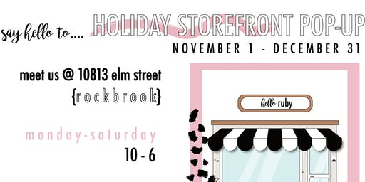 GRAND OPENING | holiday storefront {10-6} | 20% off everything