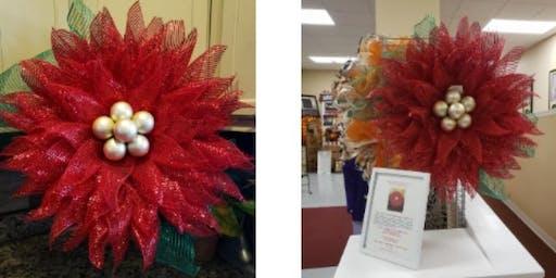 *NEW* Poinsettia flower deco mesh wreath making class