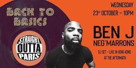 BenJ Neg'Marrons Hong Kong DJ Set Live in Hong Kong tickets