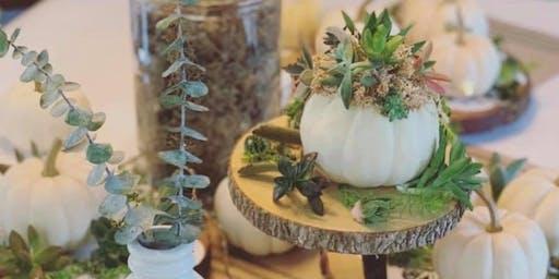 Pumpkin Succulent Diffuser Centerpieces