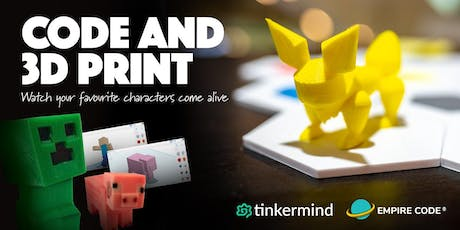Code & 3D Print Holiday Camp - Minecraft & Pokemon Themes tickets