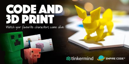 Code & 3D Print Holiday Camp - Minecraft & Pokemon Themes