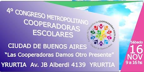 CONGRESO METROPOLITANO DE COOPERADORAS ESCOLARES CABA entradas
