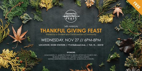 14th Annual Thankful Giving Feast   FREE to College Students in Tallahassee tickets