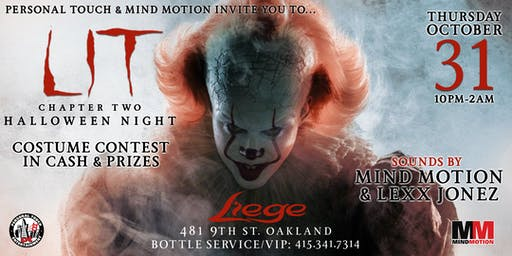 LIT 2 HALLOWEEN NIGHT w/ DJs MIND MOTION & LEXX JONEZ