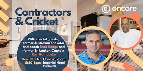 Contractors & Cricket: Oncore Client function - Melbourne tickets