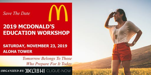 2019 McDonald's Education Workshop