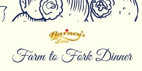 Farm To Fork Dinner tickets