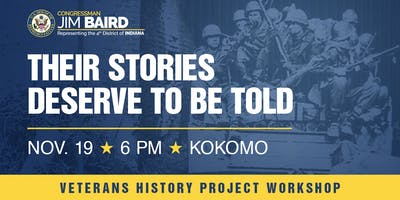 "Veterans History Project Workshop:  ""Recording our Veterans' Stories"""