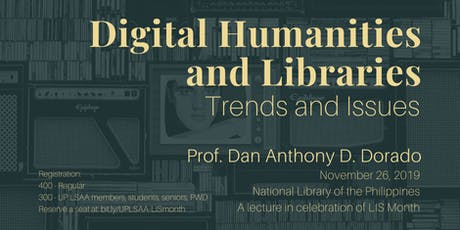 Digital Humanities and Libraries: trends and issues tickets
