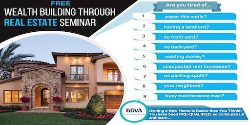 BBVA Presents - Wealth Building Through Real Estate Seminar