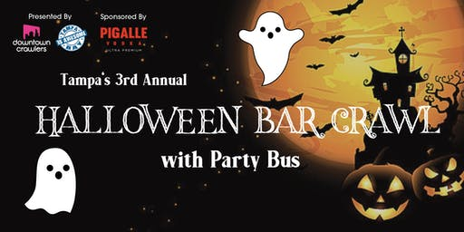 Tampa's Halloween Bar Crawl with Party Bus