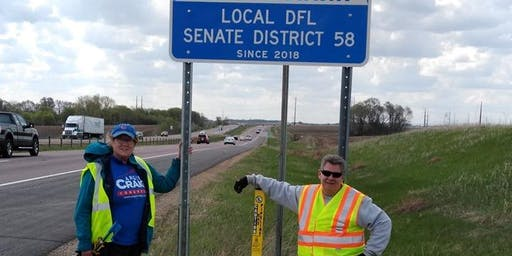 DFL SD58 Adopt-A-Highway Cleanup