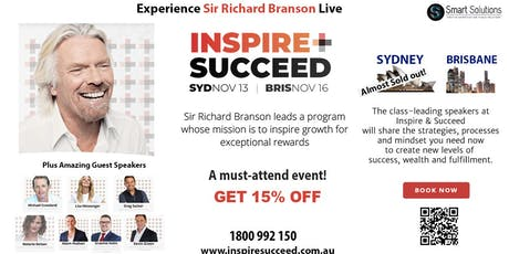 Inspire and Succeed- 15% off Brisbane tickets