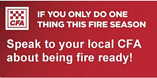 Sassafras-Ferny Creek CFA Fire Information Session