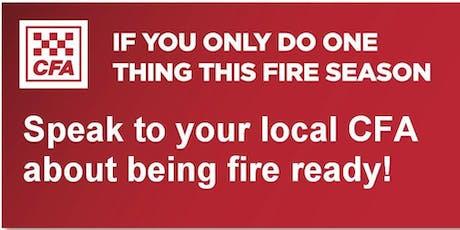 Sassafras - Ferny Creek CFA Fire Information Session tickets