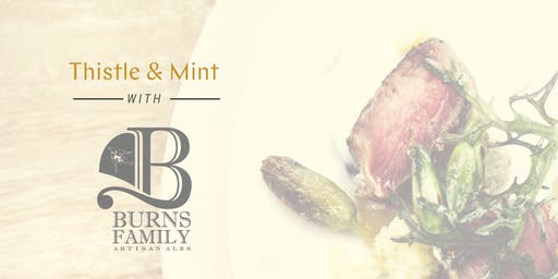 Artisanal Beer Dinner at Burns Family Ales