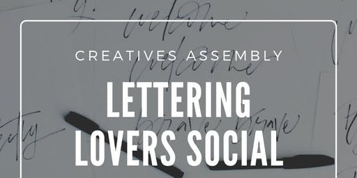 Lettering Lovers Social - Holiday Hand Lettering & Calligraphy on Cookies