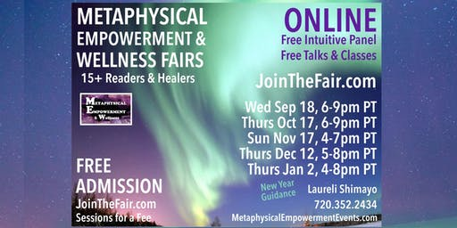 Online Metaphysical & Wellness Fair + Free Intuitive Panel