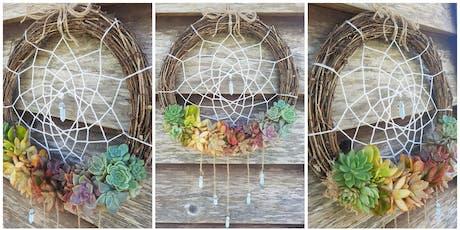 Rainbow Succulent Dreamcatcher Workshop tickets