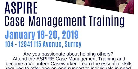 Case Management Training tickets