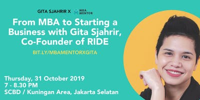 From MBA to Starting a Business with Gita Sjahrir, Co-Founder of RIDE