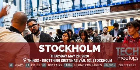 Stockholm Tech Job Fair Spring 2020 By Techmeetups tickets
