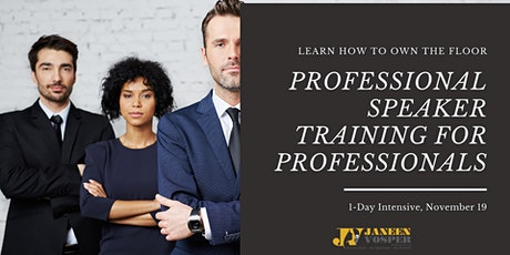 Professional Speaking Training for Professionals tickets